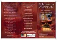 Programm Weinfest 2011 - Bernburg