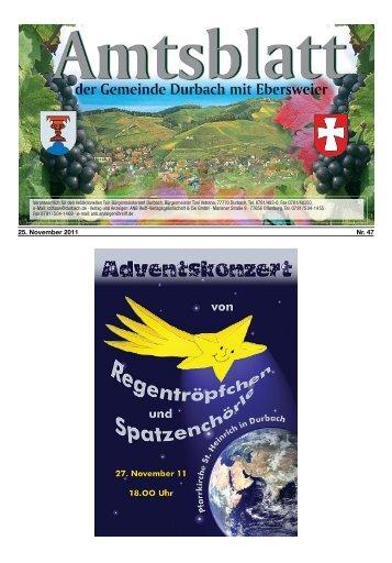25. November 2011 Nr. 47 - Durbach