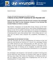 5 Sterne im Euro NCAP Crashtest für den Hyundai ix35