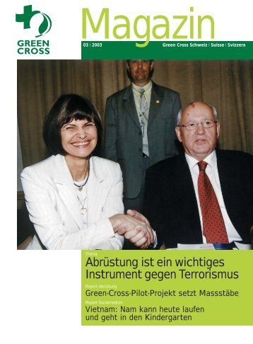 Magazin 03/2003 - Green Cross Schweiz