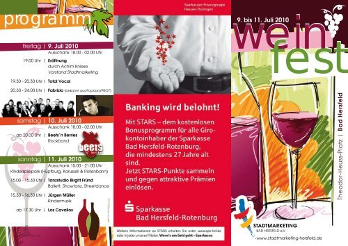 Den Flyer zum Weinfest als Download - Stadtmarketing Bad Hersfeld