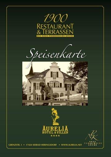 Speisekarte Restaurant 1900 - Aurelia.net