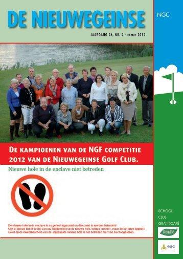 De kampioenen van de NGF competitie 2012 van de Nieuwegeinse ...