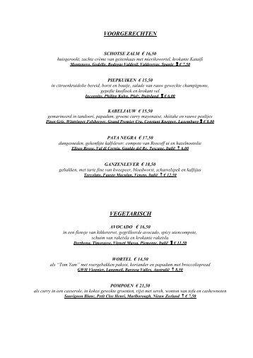 Menukaart (pdf) - Dinnersite