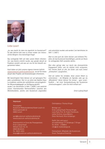 Klosterzeitung_per 30.10.07.indd - Kuratorium Weltkulturdenkmal ...