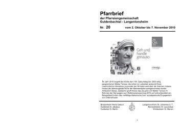 Download Pfarrbrief - katholischen Kirchengemeinde Maria Geburt ...