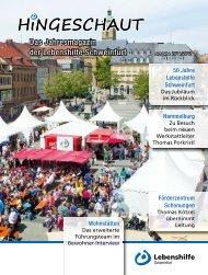Lebenshilfe Schweinfurt: HINGESCHAUT 2011/2012