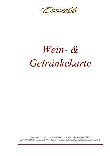 Weißwein - Restaurant Esszett