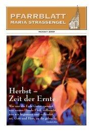 Herbst 2009 - Pfarre Gratwein und Maria-Straßengel