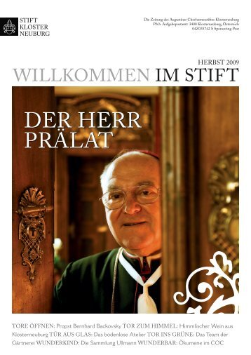 Herbst 2009 (pdf, 4.42 MB) - Stift Klosterneuburg