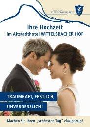 Ihre Hochzeit - carathotel Wittelsbacher Hof Kelheim