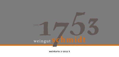 aktuelle Angebotsliste - Weingut Schmidt