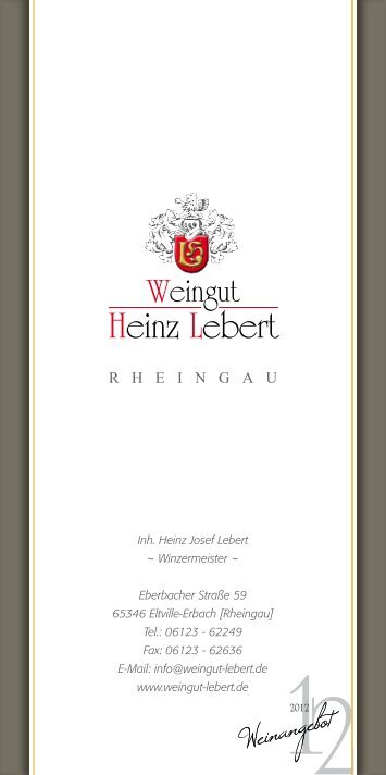Weinliste download - Weingut Heinz Lebert