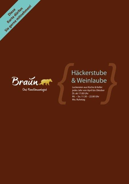 Häckerstube & Weinlaube - Weingut Braun