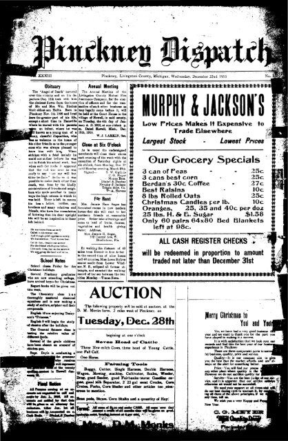 12-22-1915 - Village of Pinckney