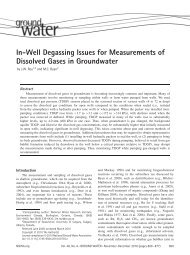 InWell Degassing Issues for Measurements of Dissolved Gases in ...