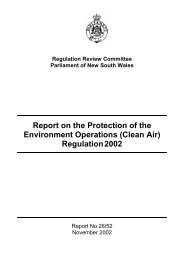Committee Report 22 November 2002 - Parliament of New South ...