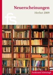 Neuerscheinungen - Verlag Ferdinand Schöningh