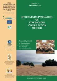 Effectiveness evaluation of stakeholder consultation ... - Junicoast