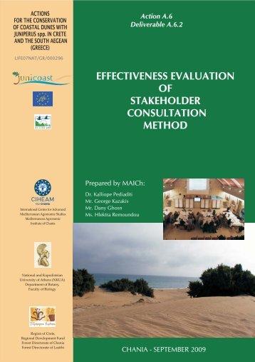 Effectiveness evaluation of stakeholder consultation ... - Junicoast