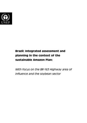 Brazil: Integrated assessment and planning in the context of ... - UNEP