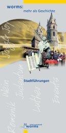 Stadtführungen 2013 (PDF / 5 MB) - Worms