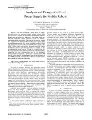 Analysis and Design of a Novel Power Supply for Mobile Robots