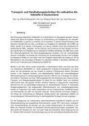 Transport- und Handhabungstechniken für radioaktive Ab - DBE ...