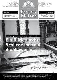 Paulus Blätter - Nachbarschaftshaus Wannseebahn eV