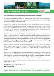 Kandidaten - CDU Ortsgruppe Sohland