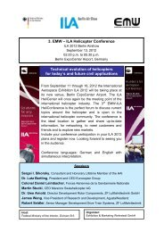 3. EMW – ILA Helicopter Conference Technical evolution of ...