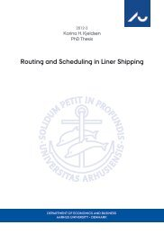 Routing and Scheduling in Liner Shipping - PURE