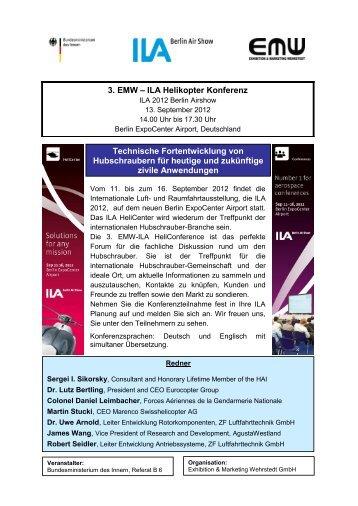 Flyer 3. EMW - ILA Helikopter Konferenz
