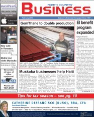NorthCountry Business February 2010 - North Country Business News