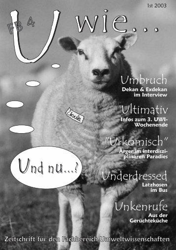 U wie 1st 2003 - Leuphana Universität Lüneburg