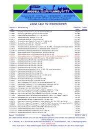 Liliput Spur H0~ Preisliste