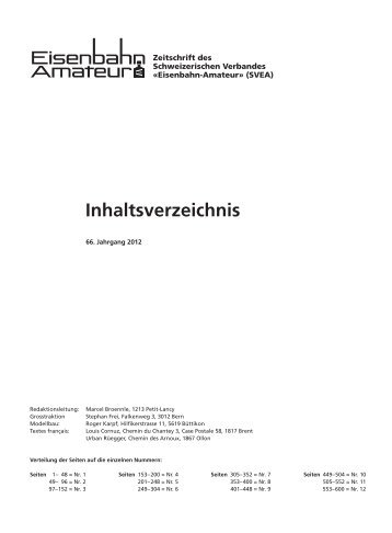 Eisenbahn amateur inhaltsverzeichnis online