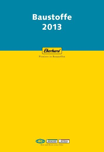 RC- und Primärbaustoffe 2013 - Eberhard