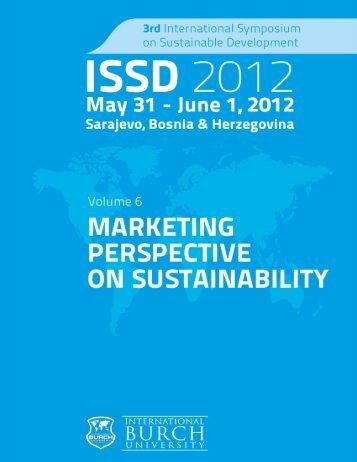 (ISSD'12) May 31 - International Symposium on Sustainable ...