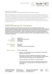 Deutschland (DE) Produkt & Content Manager IT/TK – Online ...
