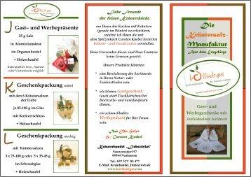 Die Kräutersalz- Manufaktur - Kräuterhandel Elke Holst