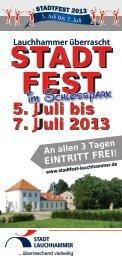 Stadtfest 2013 - Stadt Lauchhammer