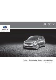 Preise · Technische Daten · Ausstattung - Subaru