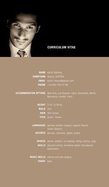 CURRICULUM VITAE - Karim Rahoma