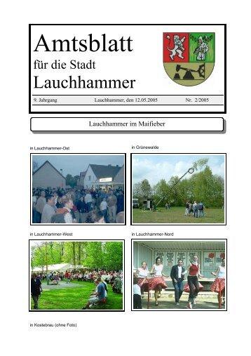Amtsblatt 02/2005 - Stadt Lauchhammer