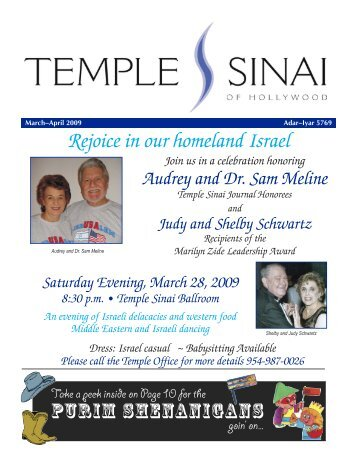 Sinai for web Mar-Apr 09:Layout 1.qxd - Temple Sinai of Hollywood