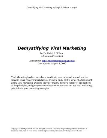 Dissertation on web 2 marketing