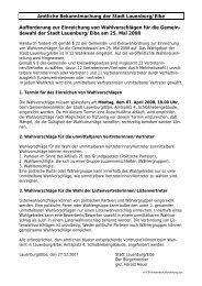 Aufforderung zur Einreichung von Wahlvorschlägen für die ...