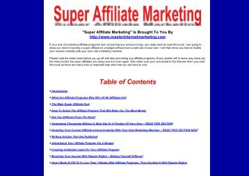 Super Affiliate Marketing - Online Parent Support