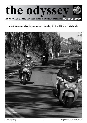 newsletter of the ulysses club adelaide branch october 2009